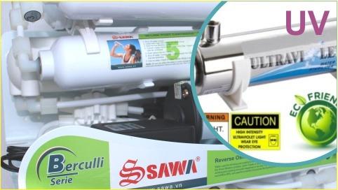Đèn UV trên máy lọc nước RO Sawa