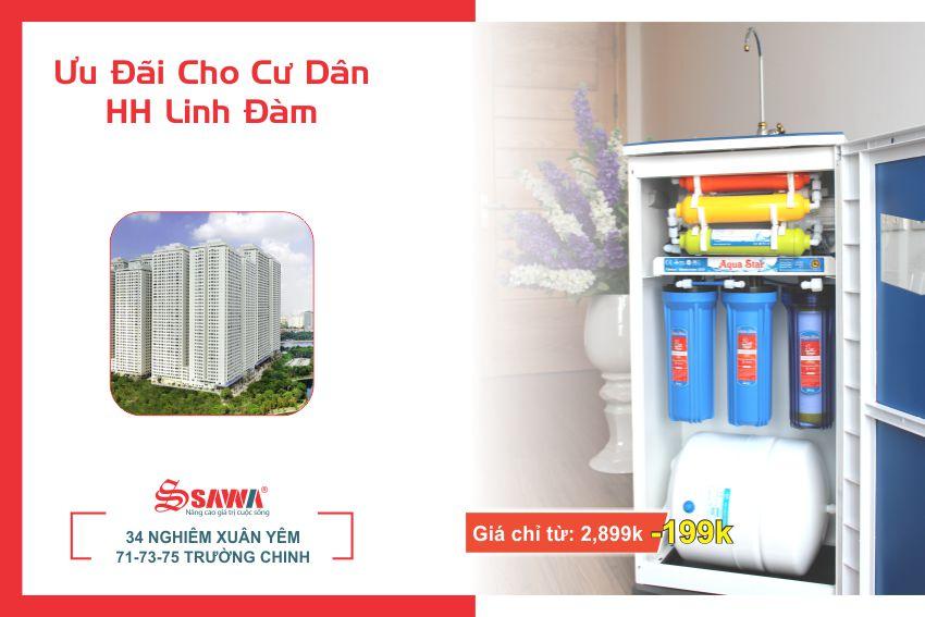 Máy lọc nước cho chung cư HH Linh Đàm
