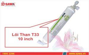Lõi lọc nước than hoạt tính T33 10 inch